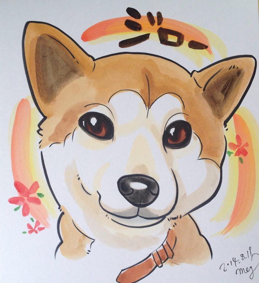 似顔絵アーティストMEGさんのペットの似顔絵の写真