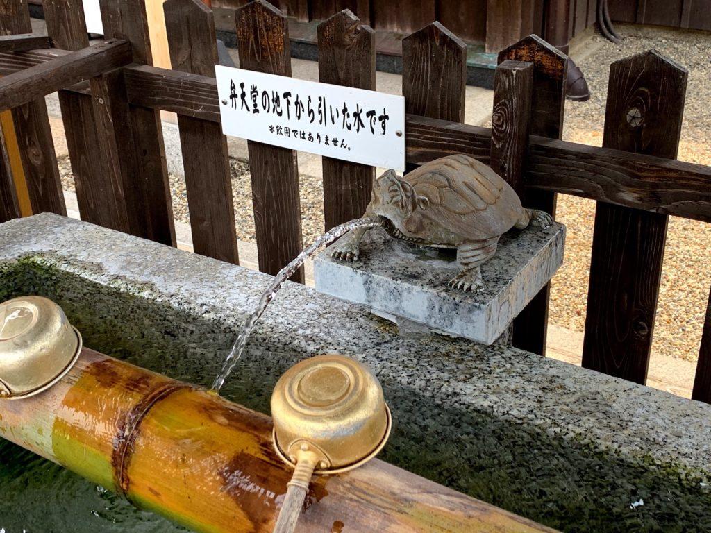 手水の亀の写真